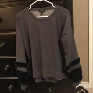 Jessica Simpson Dark Gray Sweatshirt, sz L